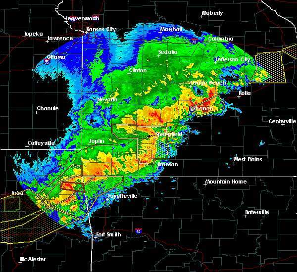 Radar Image for Severe Thunderstorms near Richland, MO at 4/28/2020 7:23 PM CDT