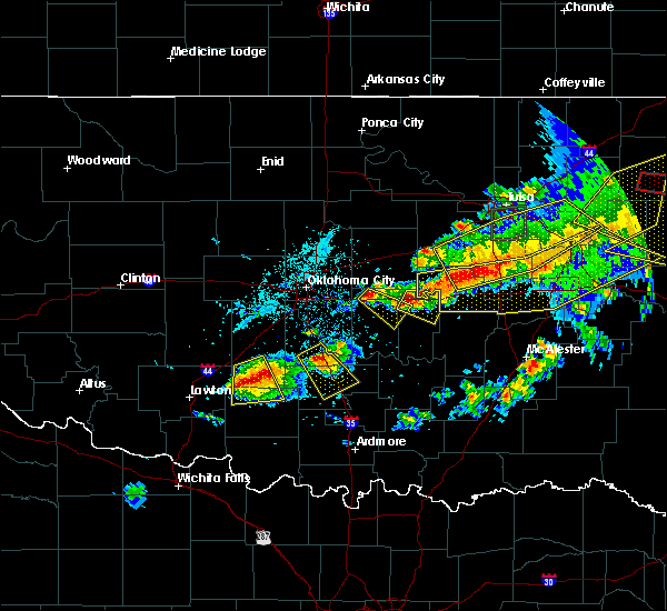 Radar Image for Severe Thunderstorms near Seminole, OK at 4/28/2020 7:43 PM CDT