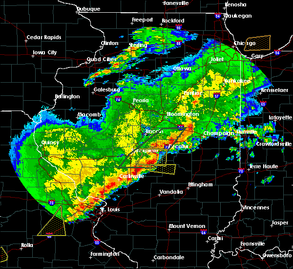 Radar Image for Severe Thunderstorms near Boody, IL at 4/28/2020 7:44 PM CDT