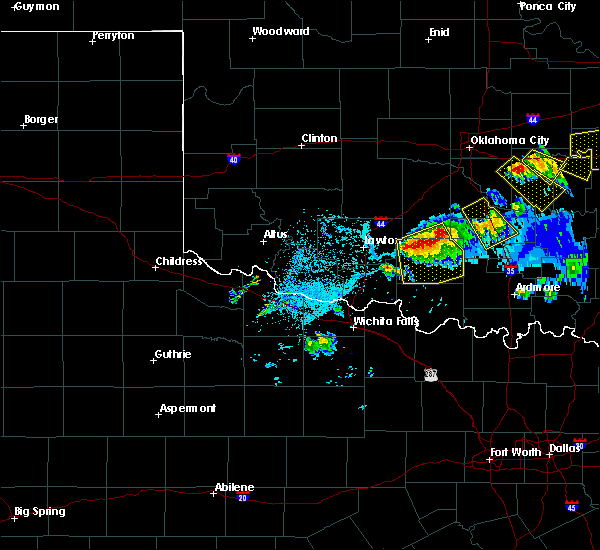 Radar Image for Severe Thunderstorms near Hastings, OK at 4/28/2020 7:55 PM CDT
