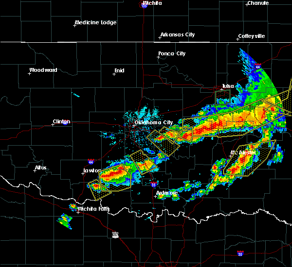 Radar Image for Severe Thunderstorms near Wetumka, OK at 4/28/2020 8:00 PM CDT