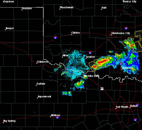 Radar Image for Severe Thunderstorms near Hastings, OK at 4/28/2020 8:18 PM CDT