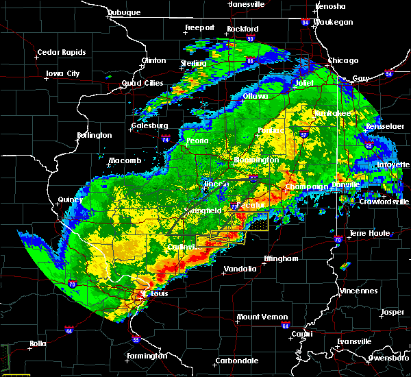 Radar Image for Severe Thunderstorms near Pana, IL at 4/28/2020 8:28 PM CDT