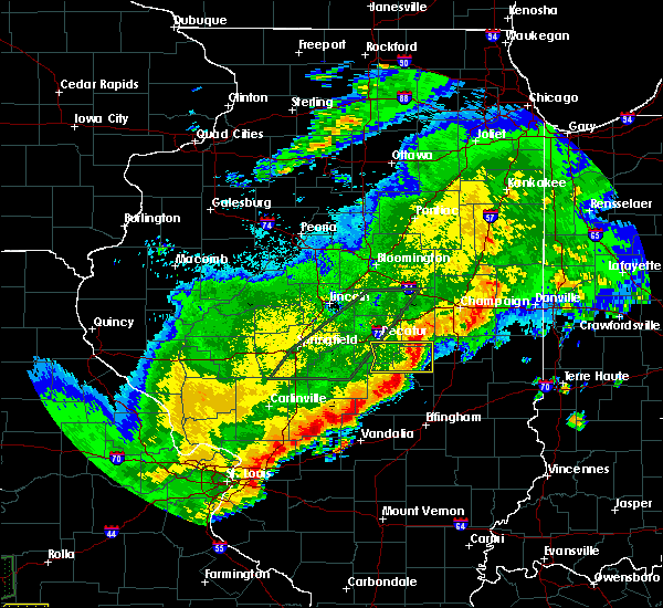 Radar Image for Severe Thunderstorms near Sullivan, IL at 4/28/2020 8:38 PM CDT