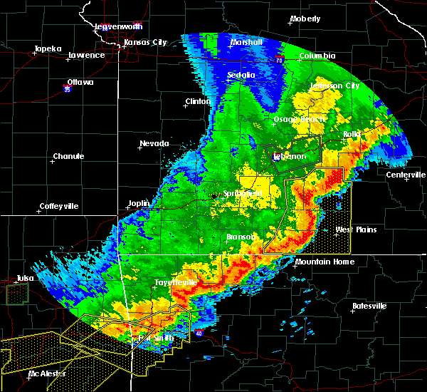 Radar Image for Severe Thunderstorms near Brandsville, MO at 4/28/2020 8:37 PM CDT