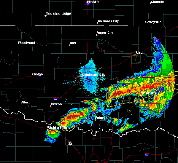 Radar Image for Severe Thunderstorms near Bowlegs, OK at 4/28/2020 8:42 PM CDT