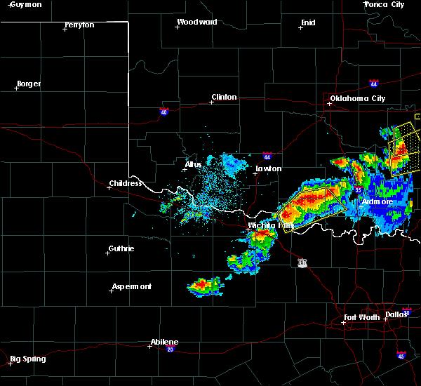 Radar Image for Severe Thunderstorms near Henrietta, TX at 4/28/2020 8:49 PM CDT