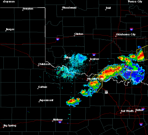 Radar Image for Severe Thunderstorms near Cornish, OK at 4/28/2020 8:53 PM CDT