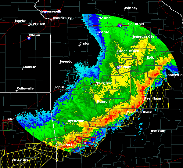 Radar Image for Severe Thunderstorms near Brandsville, MO at 4/28/2020 8:59 PM CDT