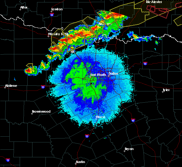 Radar Image for Severe Thunderstorms near Valley View, TX at 4/28/2020 9:27 PM CDT