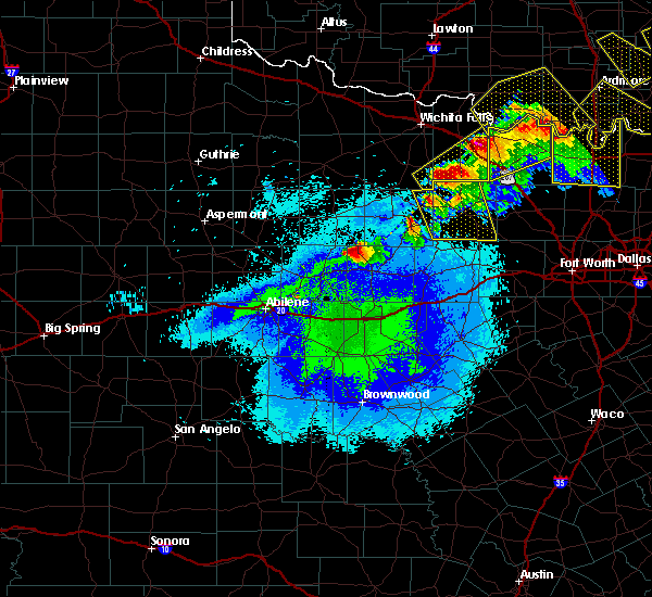 Radar Image for Severe Thunderstorms near Ranger, TX at 4/28/2020 9:34 PM CDT