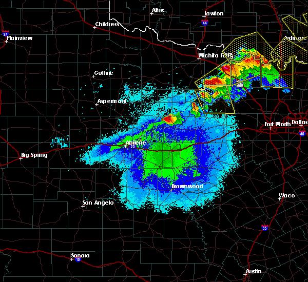 Radar Image for Severe Thunderstorms near Breckenridge, TX at 4/28/2020 9:34 PM CDT