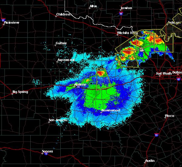Radar Image for Severe Thunderstorms near Breckenridge, TX at 4/28/2020 9:47 PM CDT