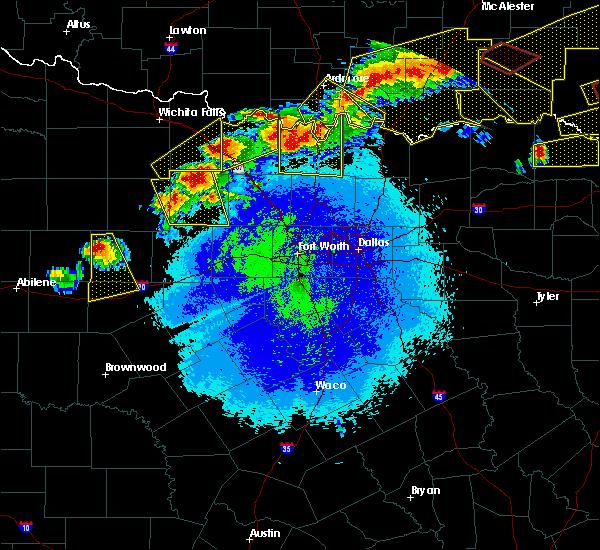 Radar Image for Severe Thunderstorms near Callisburg, TX at 4/28/2020 9:52 PM CDT