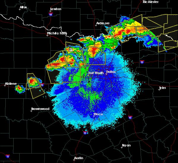Radar Image for Severe Thunderstorms near Colbert, OK at 4/28/2020 10:34 PM CDT