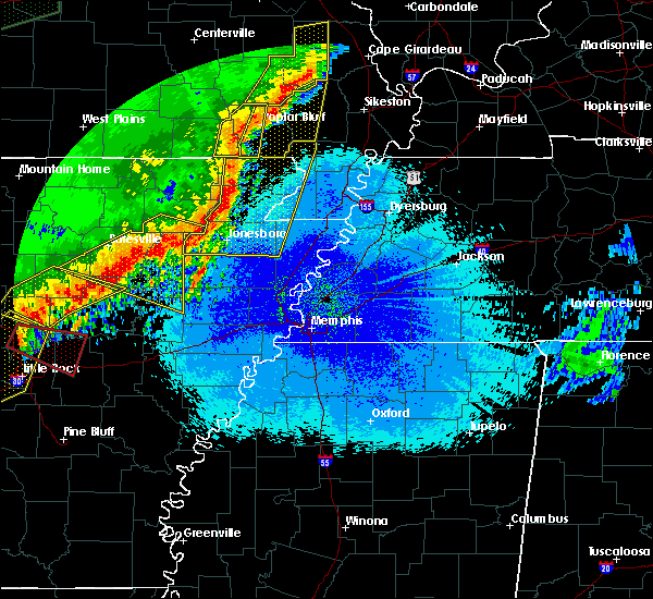 Radar Image for Severe Thunderstorms near Delaplaine, AR at 4/28/2020 10:56 PM CDT
