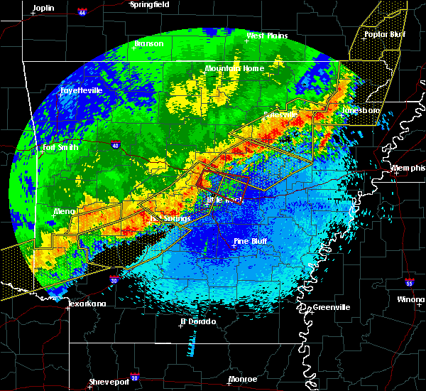 Radar Image for Severe Thunderstorms near Little Rock, AR at 4/28/2020 10:57 PM CDT