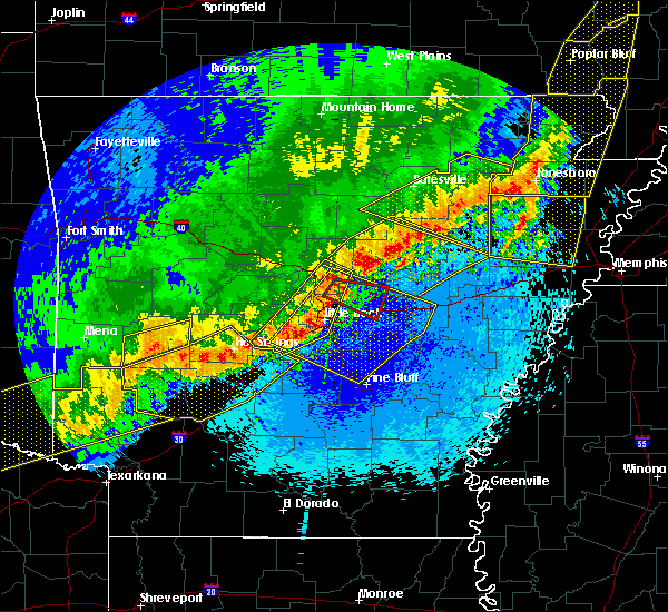 Radar Image for Severe Thunderstorms near Amagon, AR at 4/28/2020 10:57 PM CDT