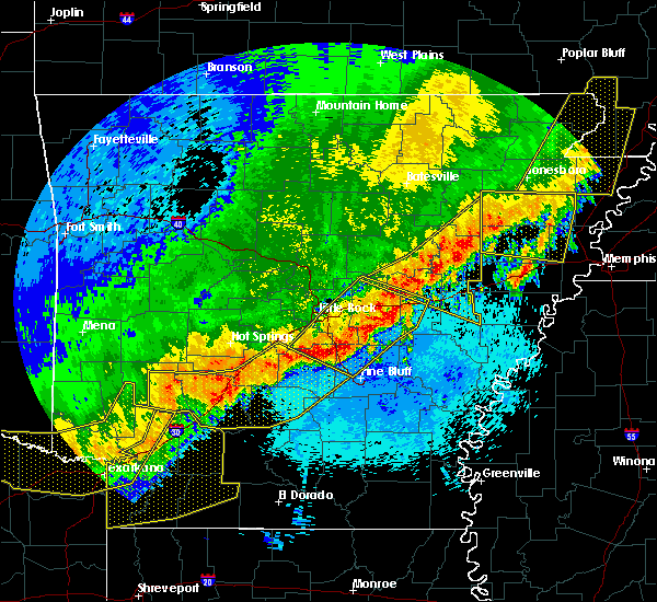 Radar Image for Severe Thunderstorms near White Hall, AR at 4/28/2020 11:28 PM CDT
