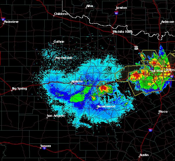 Radar Image for Severe Thunderstorms near Ranger, TX at 4/28/2020 11:29 PM CDT