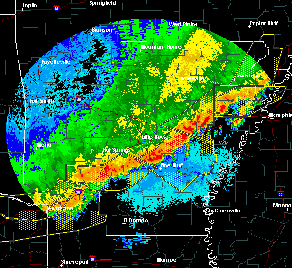 Radar Image for Severe Thunderstorms near White Hall, AR at 4/28/2020 11:38 PM CDT