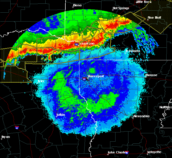 Radar Image for Severe Thunderstorms near Texarkana, TX at 4/28/2020 11:49 PM CDT