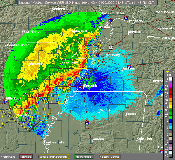 Radar Image for Severe Thunderstorms near Fisher, AR at 4/28/2020 11:50 PM CDT