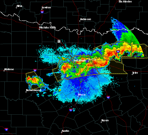Radar Image for Severe Thunderstorms near East Tawakoni, TX at 4/29/2020 12:00 AM CDT