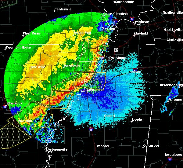 Radar Image for Severe Thunderstorms near Jennette, AR at 4/29/2020 12:07 AM CDT