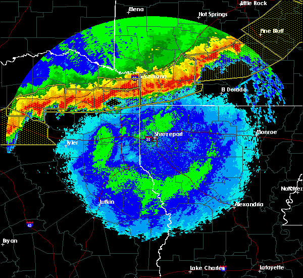 Radar Image for Severe Thunderstorms near Stamps, AR at 4/29/2020 12:10 AM CDT