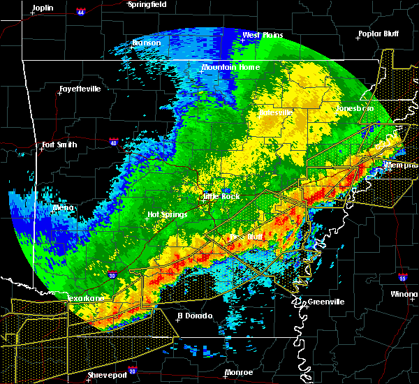 Radar Image for Severe Thunderstorms near Star City, AR at 4/29/2020 12:15 AM CDT