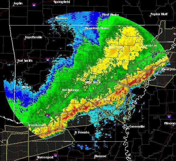 Radar Image for Severe Thunderstorms near Watson, AR at 4/29/2020 12:15 AM CDT