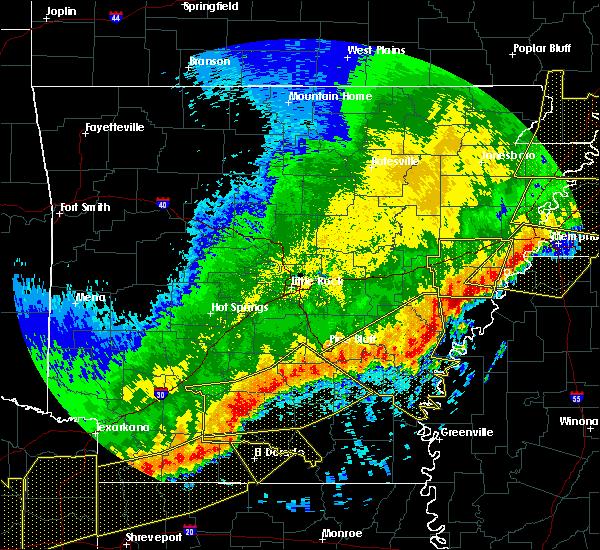 Radar Image for Severe Thunderstorms near Watson, AR at 4/29/2020 12:33 AM CDT