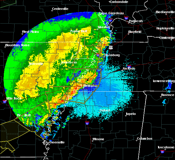 Radar Image for Severe Thunderstorms near Collierville, TN at 4/29/2020 12:39 AM CDT