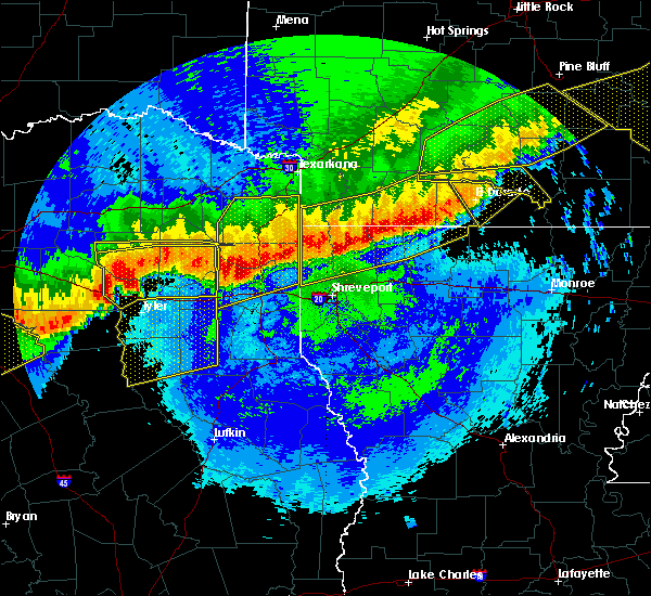 Radar Image for Severe Thunderstorms near Noonday, TX at 4/29/2020 12:45 AM CDT