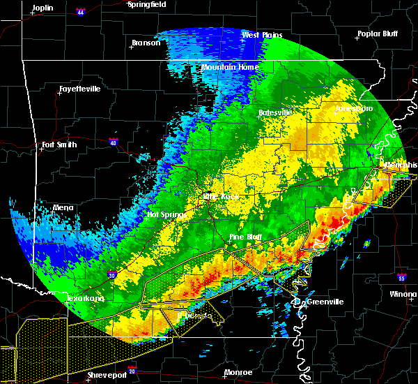 Radar Image for Severe Thunderstorms near Star City, AR at 4/29/2020 12:49 AM CDT