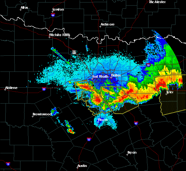 Radar Image for Severe Thunderstorms near Mabank, TX at 4/29/2020 12:53 AM CDT