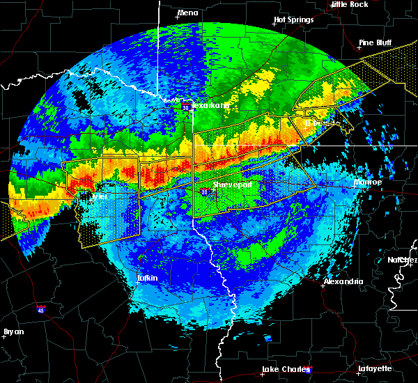 Radar Image for Severe Thunderstorms near Mooringsport, LA at 4/29/2020 12:55 AM CDT