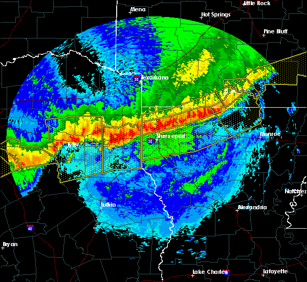 Radar Image for Severe Thunderstorms near Mooringsport, LA at 4/29/2020 1:07 AM CDT