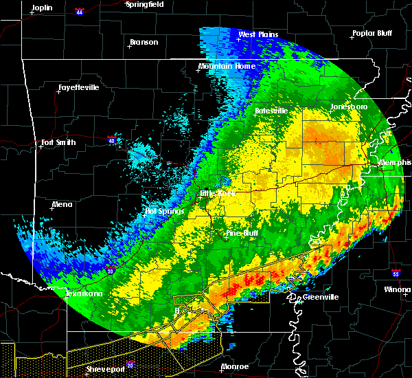 Radar Image for Severe Thunderstorms near Jerome, AR at 4/29/2020 1:25 AM CDT