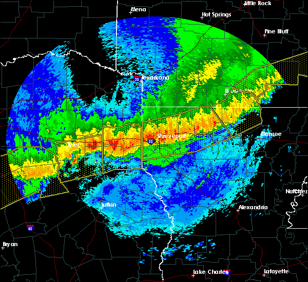 Radar Image for Severe Thunderstorms near Bernice, LA at 4/29/2020 1:33 AM CDT