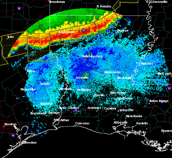 Radar Image for Severe Thunderstorms near Claiborne, LA at 4/29/2020 1:40 AM CDT