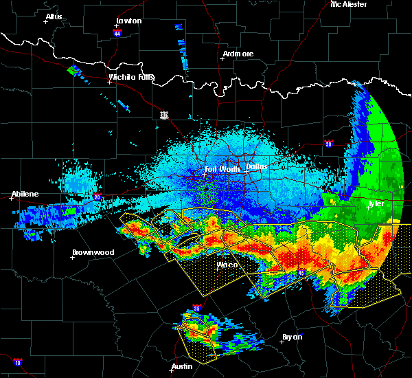 Radar Image for Severe Thunderstorms near Dublin, TX at 4/29/2020 2:10 AM CDT