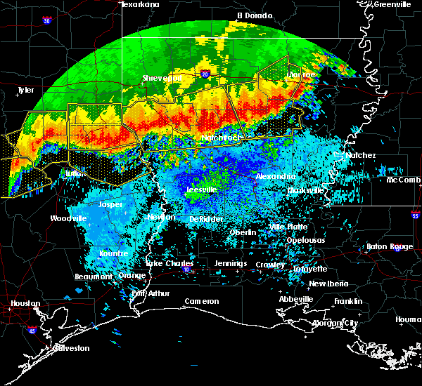 Radar Image for Severe Thunderstorms near Colmesneil, TX at 4/29/2020 2:50 AM CDT