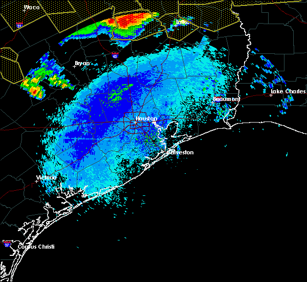 Radar Image for Severe Thunderstorms near Oakhurst, TX at 4/29/2020 2:53 AM CDT
