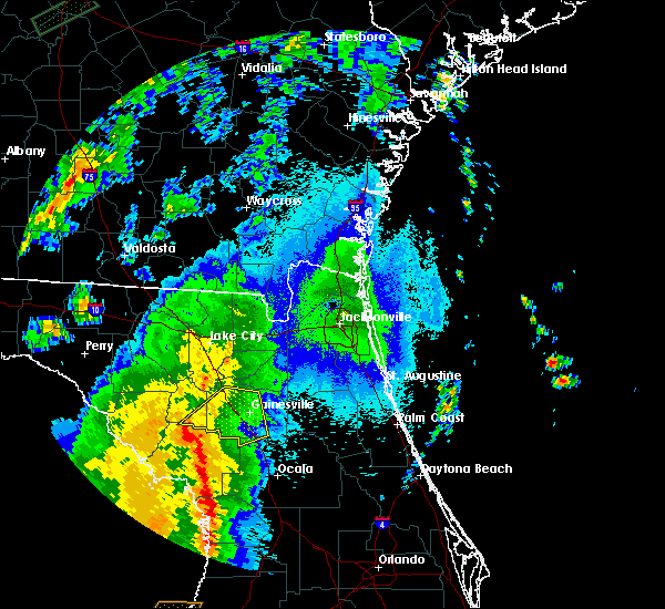 Radar Image for Severe Thunderstorms near Gainesville, FL at 4/30/2020 1:18 AM EDT