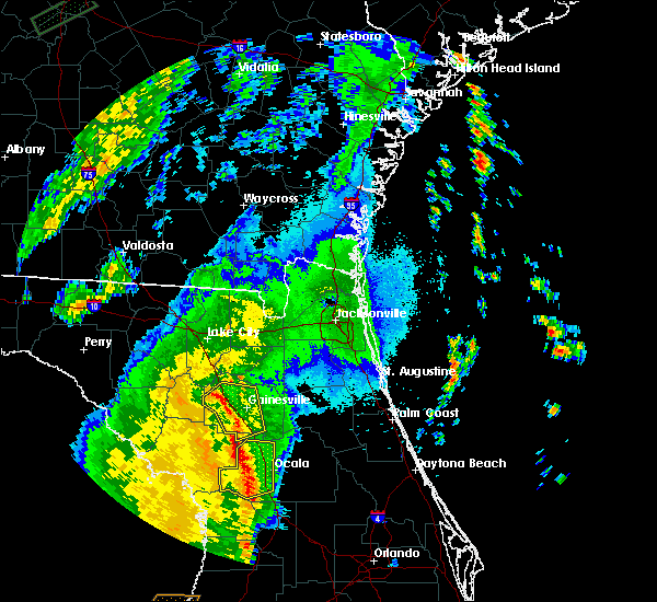 Radar Image for Severe Thunderstorms near Reddick, FL at 4/30/2020 1:48 AM EDT
