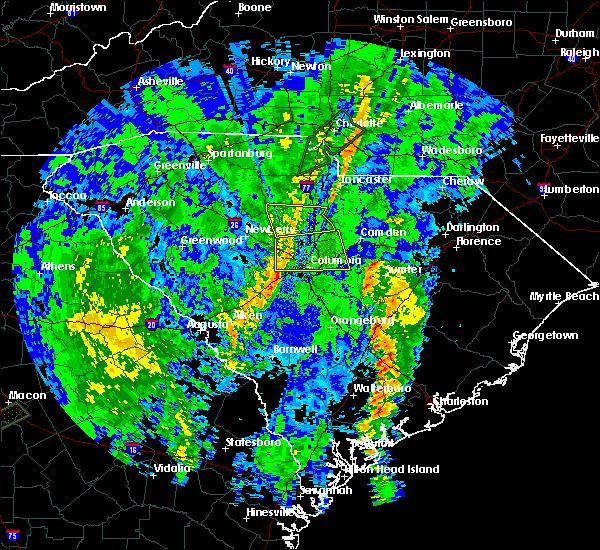 Radar Image for Severe Thunderstorms near Winnsboro, SC at 4/30/2020 2:18 AM EDT