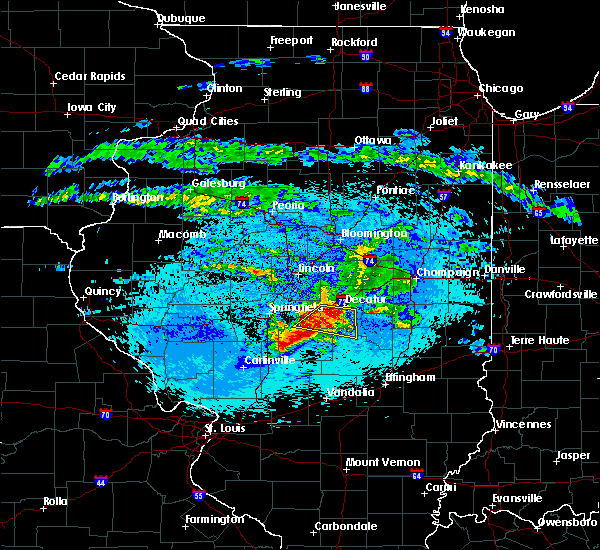 Radar Image for Severe Thunderstorms near Boody, IL at 5/2/2020 10:04 PM CDT