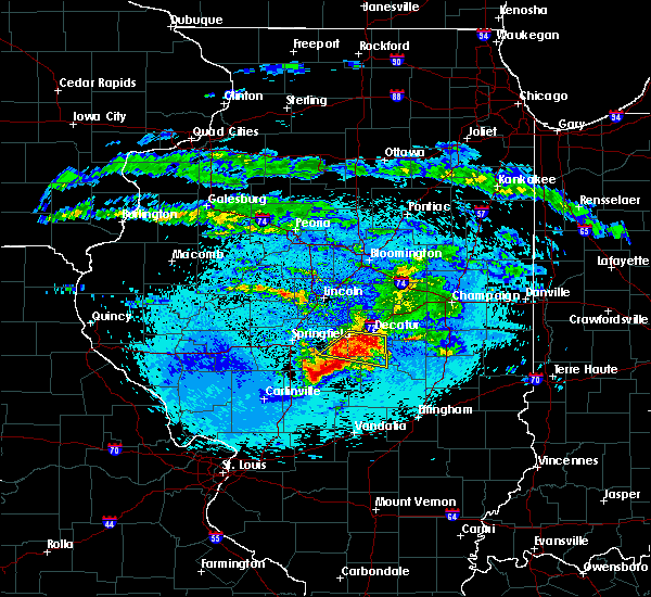 Radar Image for Severe Thunderstorms near Findlay, IL at 5/2/2020 10:10 PM CDT
